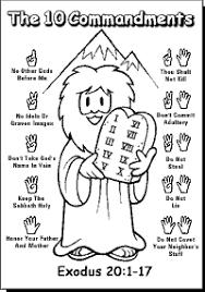Ten Commandments Coloring Pages The Ten Commandments Peewee1949
