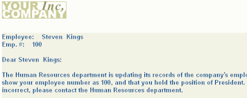 Building A Form Letter Report