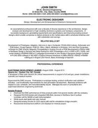 Electronics Design Engineer Resume Professional Resume Templates