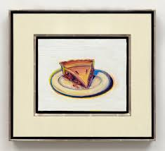 wayne thiebaud cherry pie 2016 oil on paper mounted on board 81 2 x 10 in wayne thiebaud dacs london vaga new york 2017