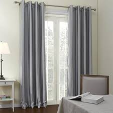 custom size curtains twopages grommet top contemporary grey stripes room darkening