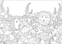 Small Picture How to Color rainbow fish coloring sheet one fish two fish
