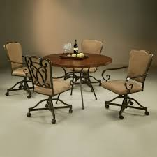furniture stunning ideas of kitchen chairs with wheels to dining table