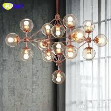 glass ball chandelier s rectangular floating uk orion 16 light led