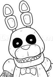 Fnaf Coloring Pages Withered Bonnie Part 8 Fnaf Coloring Pages