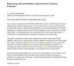 Sample Email Request For Letter Of Recommendation From