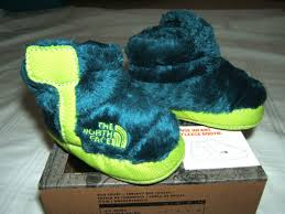 The North Face Nse Infant Fleece Bootie Baby Size 2 3 6m 3 6 9m Teal Green Nib