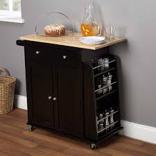 Granite Top Kitchen Trolley Kitchen Classy Black Portable Island For Kitchen With Two