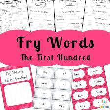 kinder sight words worksheets