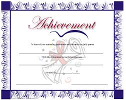 Certificate Of Achievement Templates Free Adorable Certificate Of Achievement Border Samancinetonicco