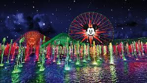 Disney World Water Light Show World Of Color Season Of Light Holiday Show Disneyland
