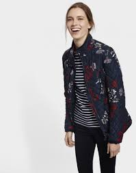 Joules Women's Newdale Print Quilted Jacket - Marine Navy Fay ... & ... Joules Women's Newdale Print Quilted Jacket - Marine Navy Fay Floral  X_NEWDALEPRINT ... Adamdwight.com