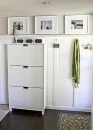 Shoe cabinet is the Stall from Ikea Board and Batten Entryway -- Ask Anna (