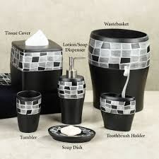 Black Bathroom Accessories Bathroom Accessory Sets Touch Of Class