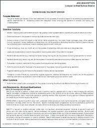 Warehouse Job Description For Resume Sample Warehouse Worker Job Description 9 Examples In Word