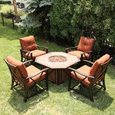 outdoor patio casual seating sets. great garden table with fire pit patio set gas outdoor casual seating sets