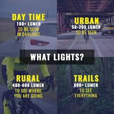 Bicycle Headlight Comparison Chart Bike Lights How Many Lumens Do You Need