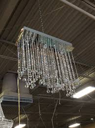 silver metal and bavarian crystal flush mount chandelier 93097a