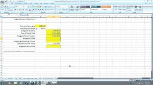 Pro Forma Spreadsheet Template Financial Statement Worksheet