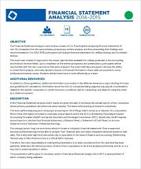 Financial Statements Format Templates 6 Financial Statement Samples Sample Templates Ratio Analysis Excel