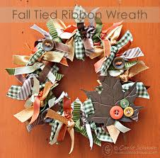 make a fall wreath with ribbons, crafts, seasonal holiday decor,  thanksgiving decorations,