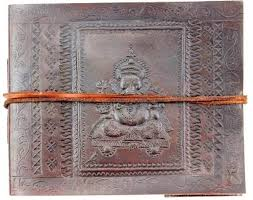 leather photo al wedding guestbook s book ganesha 7 x 5 5 inches lokalart com
