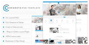 Business Website Templates Beauteous Corporato Business PSD Template By MDxign ThemeForest