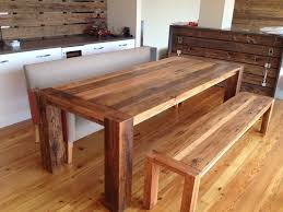 Image of: a Pair of Kitchen Table Bench