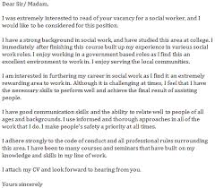 Gallery Of Social Work Cover Letters Samples