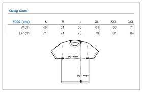 Gildan 5000 Size Chart Gildan 5000 Plain Blank T Shirt