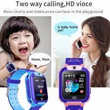 Çocuklar için akıllı saat anti kayıp IP67 su geçirmez SOS elektronik çitler  saat çağrı konumu izci düşük radyasyon Smartwatch|Akıllı Saatler