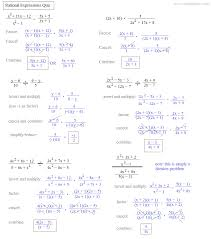 rational expressions quiz solutions