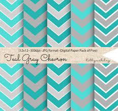 Aqua And Gray Chevron - HD Wallpapers
