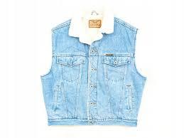 Details About N Arizona Mens Jean Vest Jeans Fur Blue Size Xl