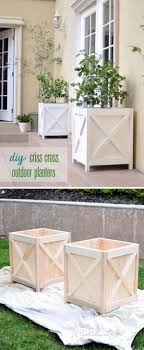 diy criss cross planter boxes
