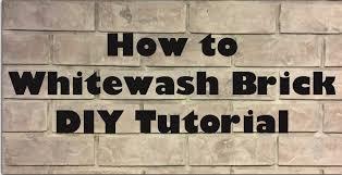 How To Whitewash Brick Vintage Varnish Diy How To Whitewash Brick