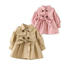 cute baby girl causal trench coat solid belt european style coat for 9 36m babies newborn infant outerwear coat clothes hot free coats kids girls parka