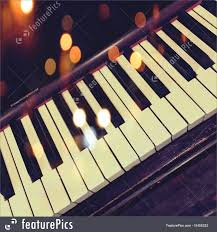 Piano Key Lights Retro Piano Keys With Bokeh Lights Royalty Free Stock Picture