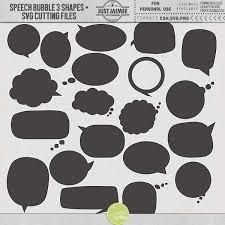 Photoshop Speech Bubble Speech Bubbles 3 Custom Shapes Svg Files Just Jaimee