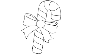 Candy Cane Coloring Pages Fresh Candy Cane Outline Coloring Pages