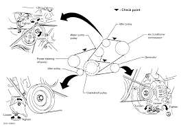 1997 nissan quest serpentine belt routing and timing belt diagrams serpentine and timing belt diagrams