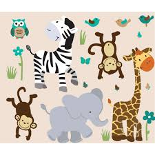 jungle wall stickers for nursery animal monkey three  on jungle wall art for baby room with jungle wall stickers for nursery ihsanudin