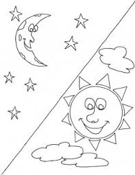 Small Picture Sun And Moon Coloring Pages The Sun Moon Stars And Cloud