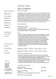 Sample Resume For Sales And Marketing Sales Coordinator Resume