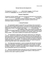 sponsorship agreement sponsorship agreement pdf fill online printable fillable blank