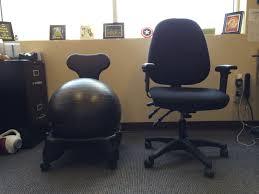 office chair battle gaiam balanceball chair vs regular desk chair geekdad