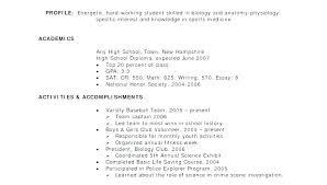 Resumes Outline College Application Resume Outline High School Resume Sample