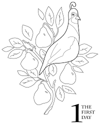 The 12 Days Of Christmas Coloring