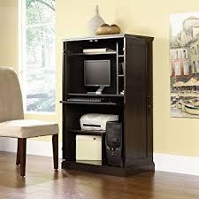 hidden desk furniture. Pemberly Row Executive Furniture Hidden Computer Workstation Brown Storage Desk Armoire Cabinet Home Organizer Office Shelves