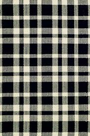 dash and albert tattersall black and ecru cotton woven rug farmhouse area rugs by dash albert rug company